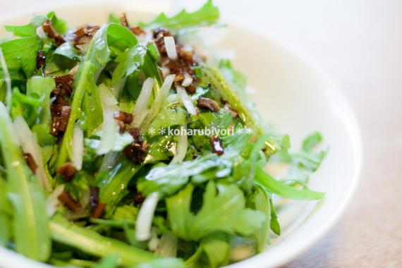 春菊とたまねぎのサラダ