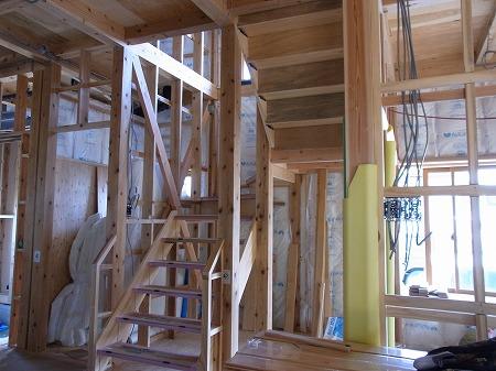 阿賀野市 新築 階段