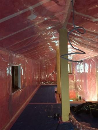 グラスウール 防湿シート 施工