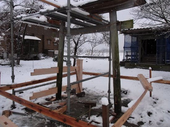 阿賀野市(笹神地区)~鳥居改修~ 091218