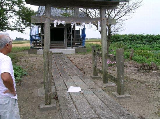 阿賀野市(笹神地区)~鳥居改修~ 091220